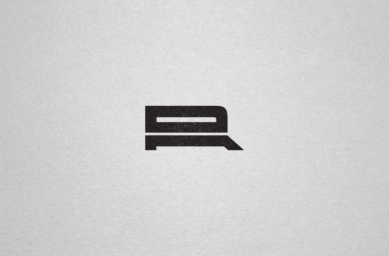 ar monogram symbol design