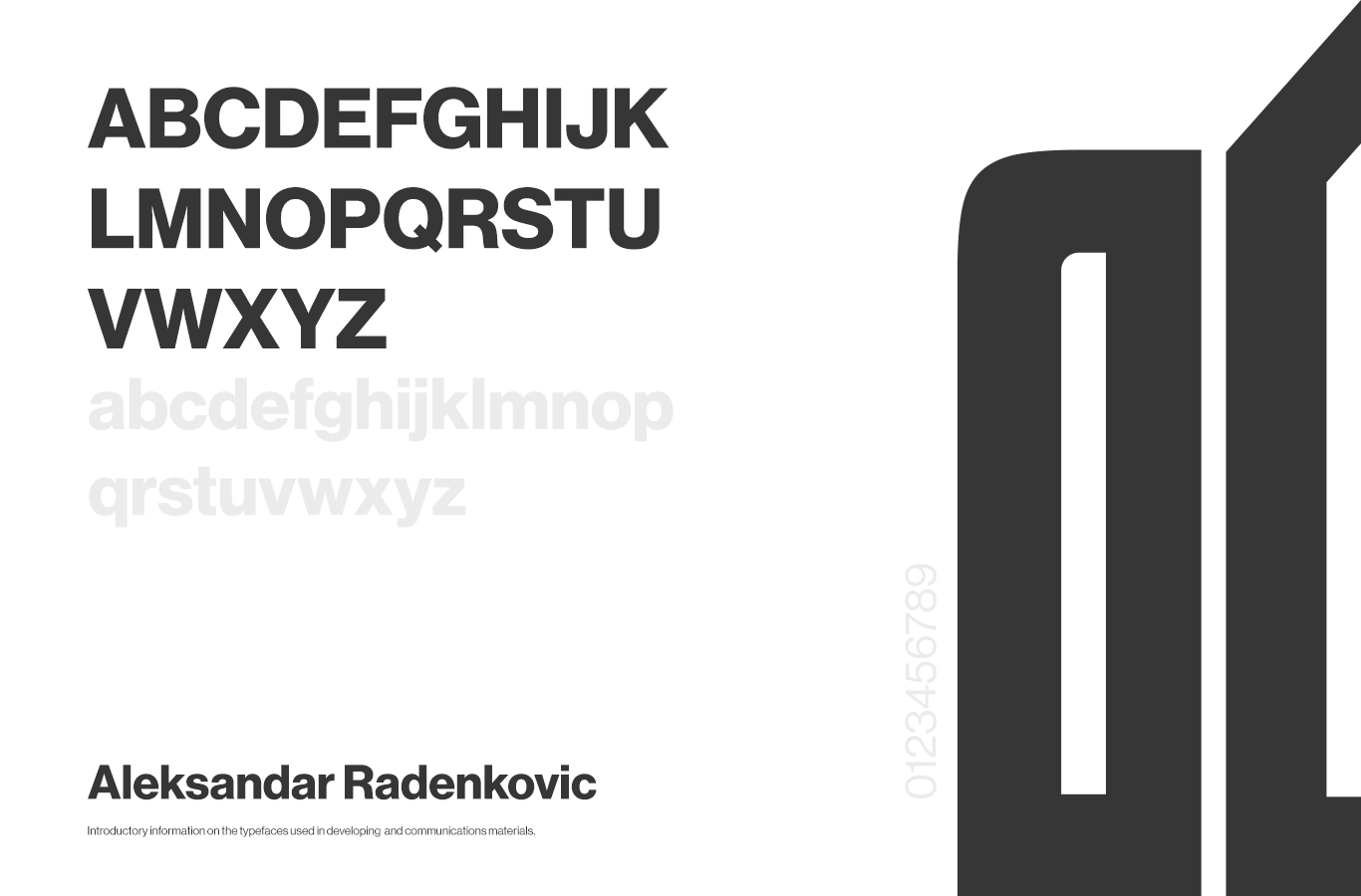fonts typeface used in project
