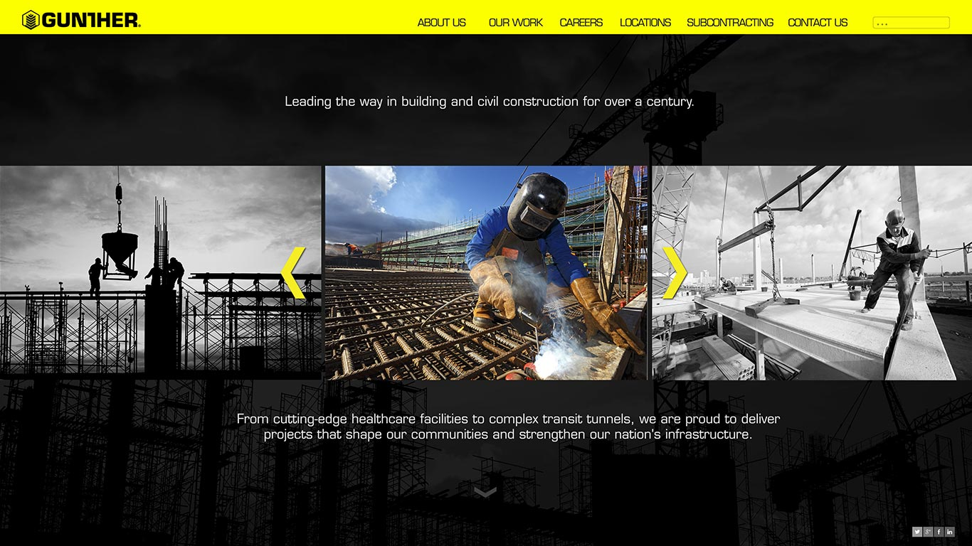 gunther construction web design