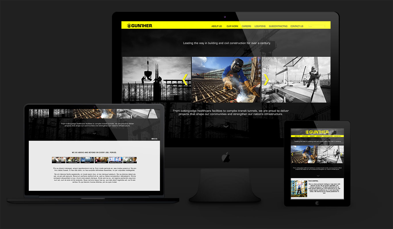 gunther construction website design