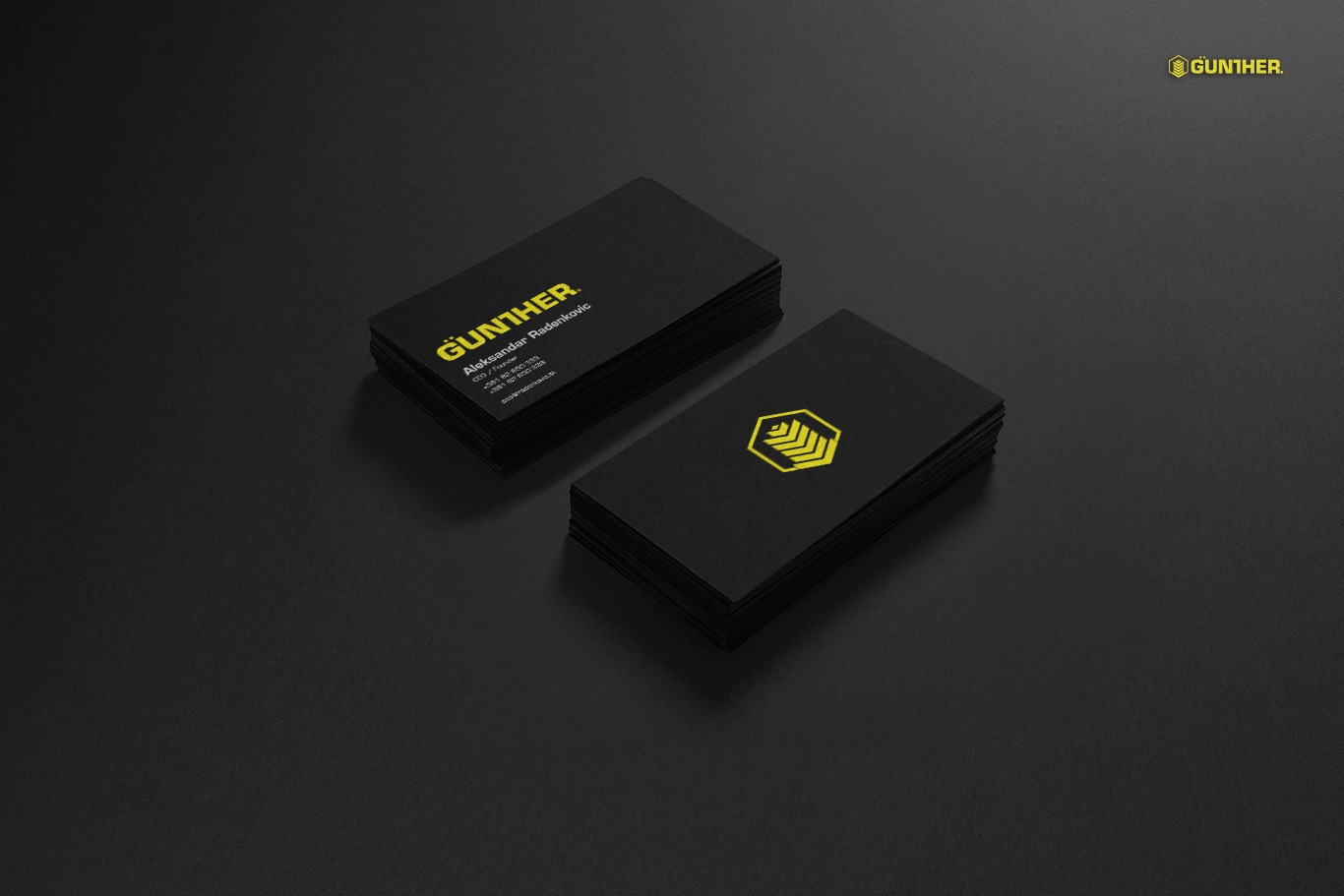 gunther business card design