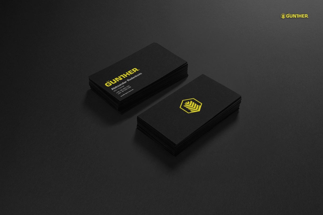 gunther business card design